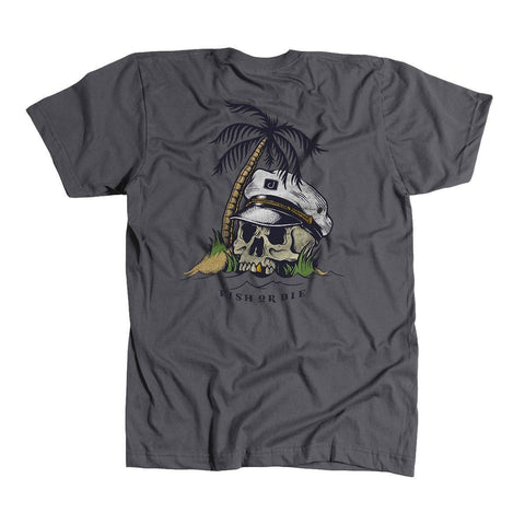 Fish Or Die T-Shirt -Charcoal