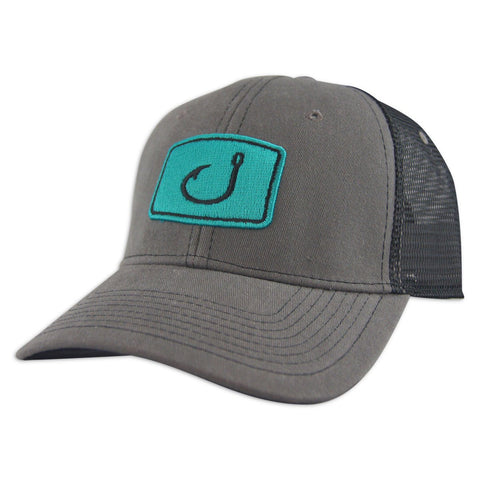 Iconic Fishing Trucker Hat (Charcoal)