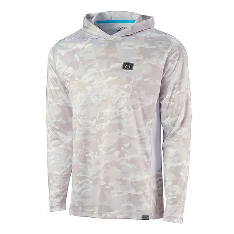 Kinetic Hooded AVIDry 50+ UPF - SNOW CAMO