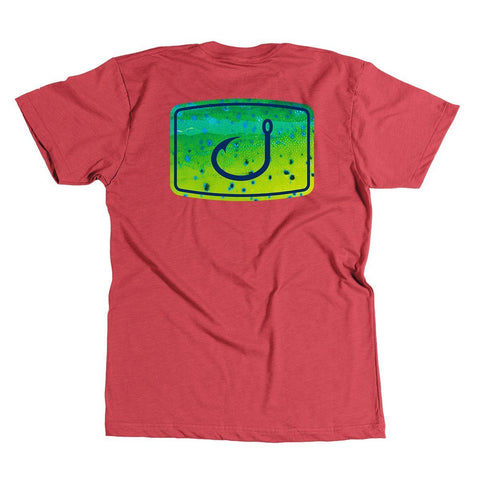 Mahi Fish Fill T-Shirt (Red Heather)