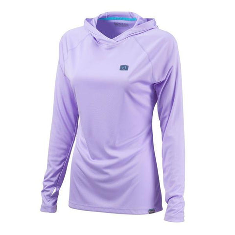 Womens Hooded AVIDry L/S (50+ UPF) - Lavender