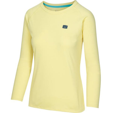 Womens Core AVIDry Long Sleeve (50+UPF) - Canary Yellow