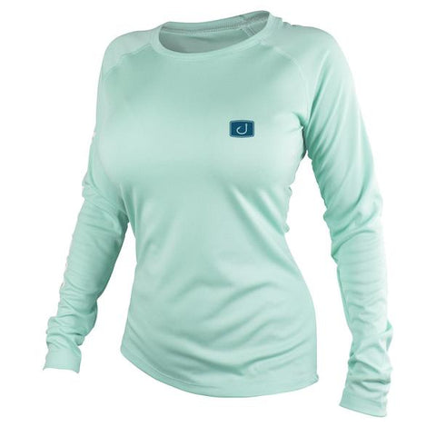 Womens Core AVIDry Long Sleeve (50+UPF) -Seafoam