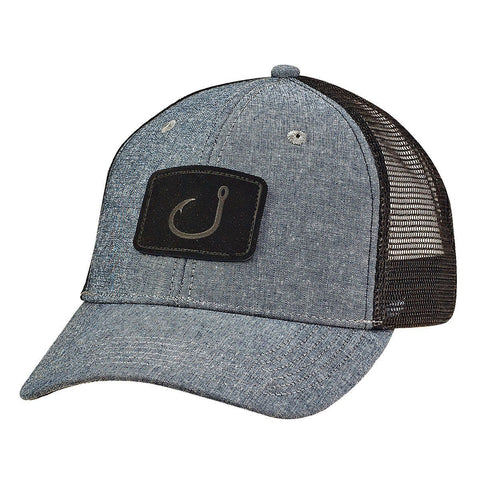Youth LayDay Trucker Hat - Charcoal Chambray