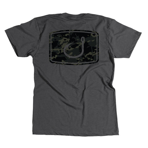 YOUTH Black Camo T-Shirt - Charcoal Heather