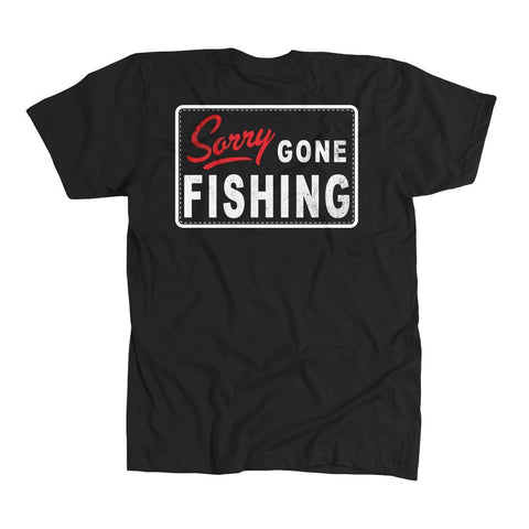 Gone Fishing T-Shirt -Black