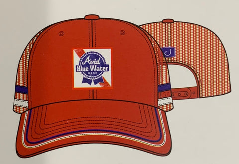 Blue Water Trucker Hat - RED