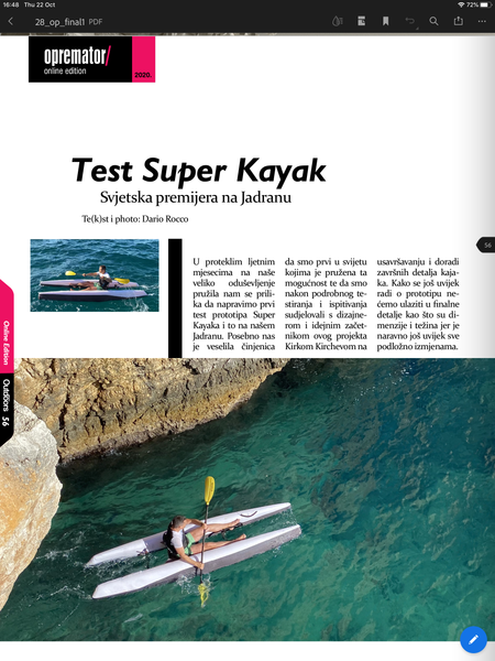 Outside People mag - reviews Super Kayak
