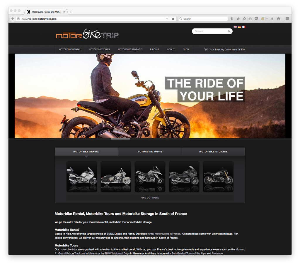 Book Rental Motorcycle Online