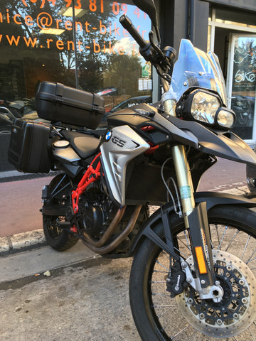motorcycle rental storage F800 GS