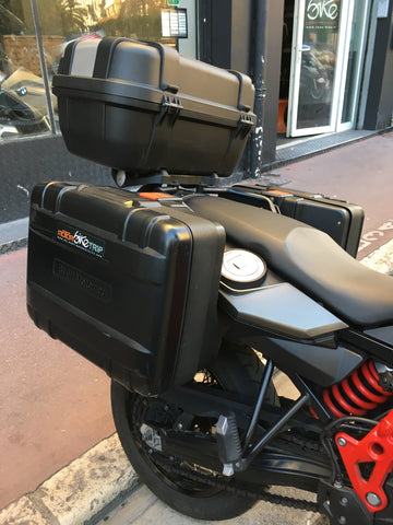 motorcycle rental storage F800 GS side cases