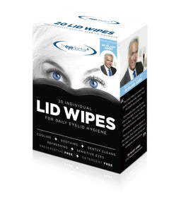 Sterile Lid Wipes, Case of 42 Boxes, Each Box of 20 Wipes