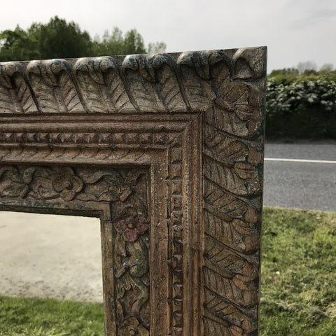 A5898 Carved ornate Indian large mirror