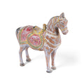 Painted Wooden Horse Figurine From Rajasthan