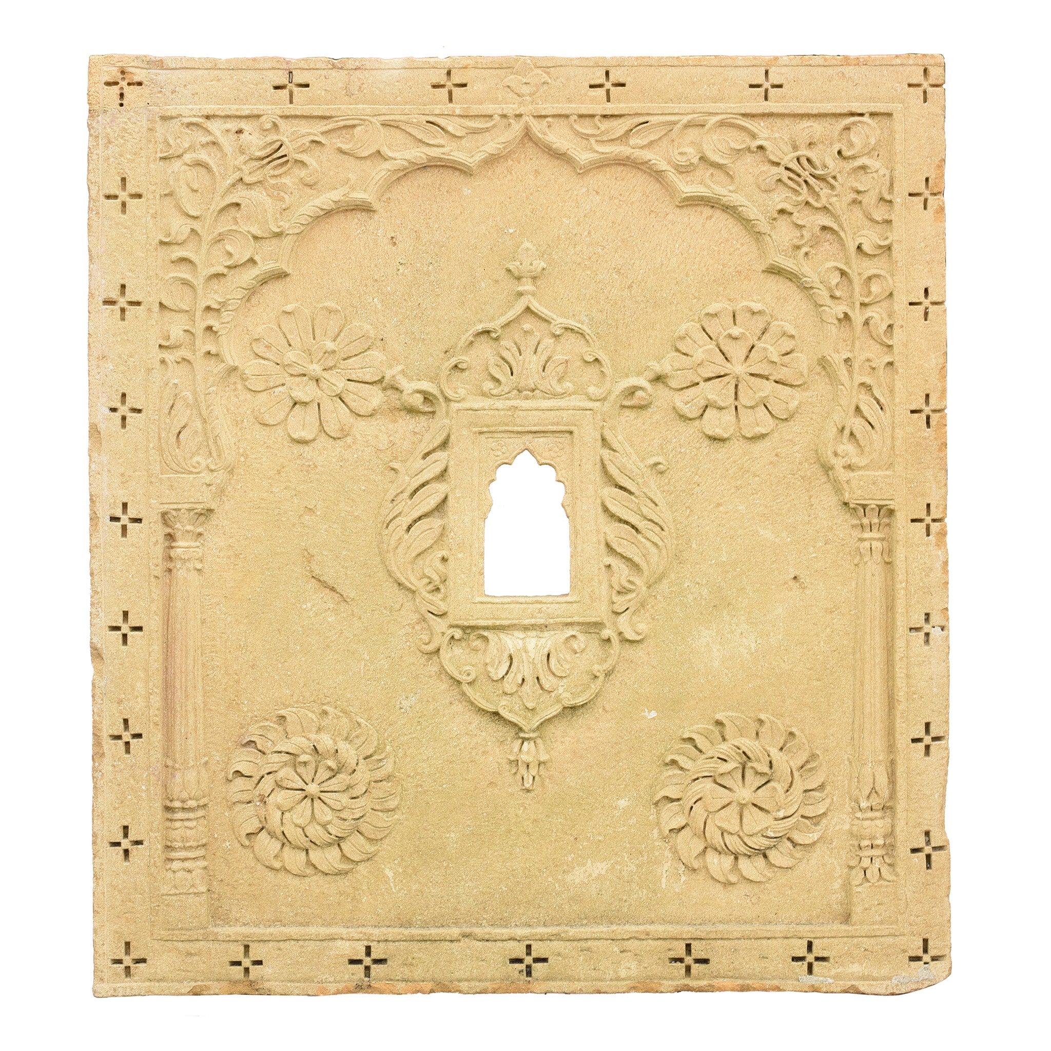 Carved Stone Panel From Rajasthan - 19thC