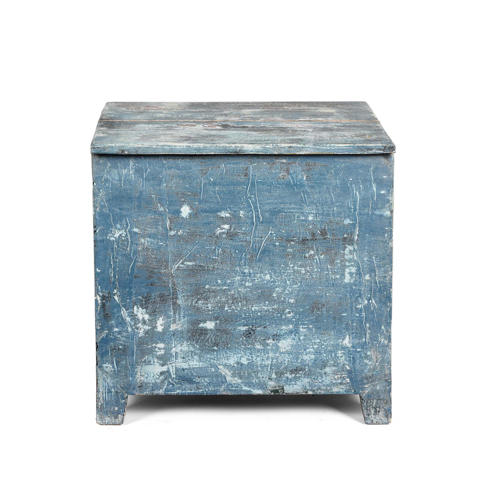 Painted Chest From Mongolia - Pine - Ca 80 Yrs Old - 55 x 39 x 57(w x d x h cms) - C0188V2