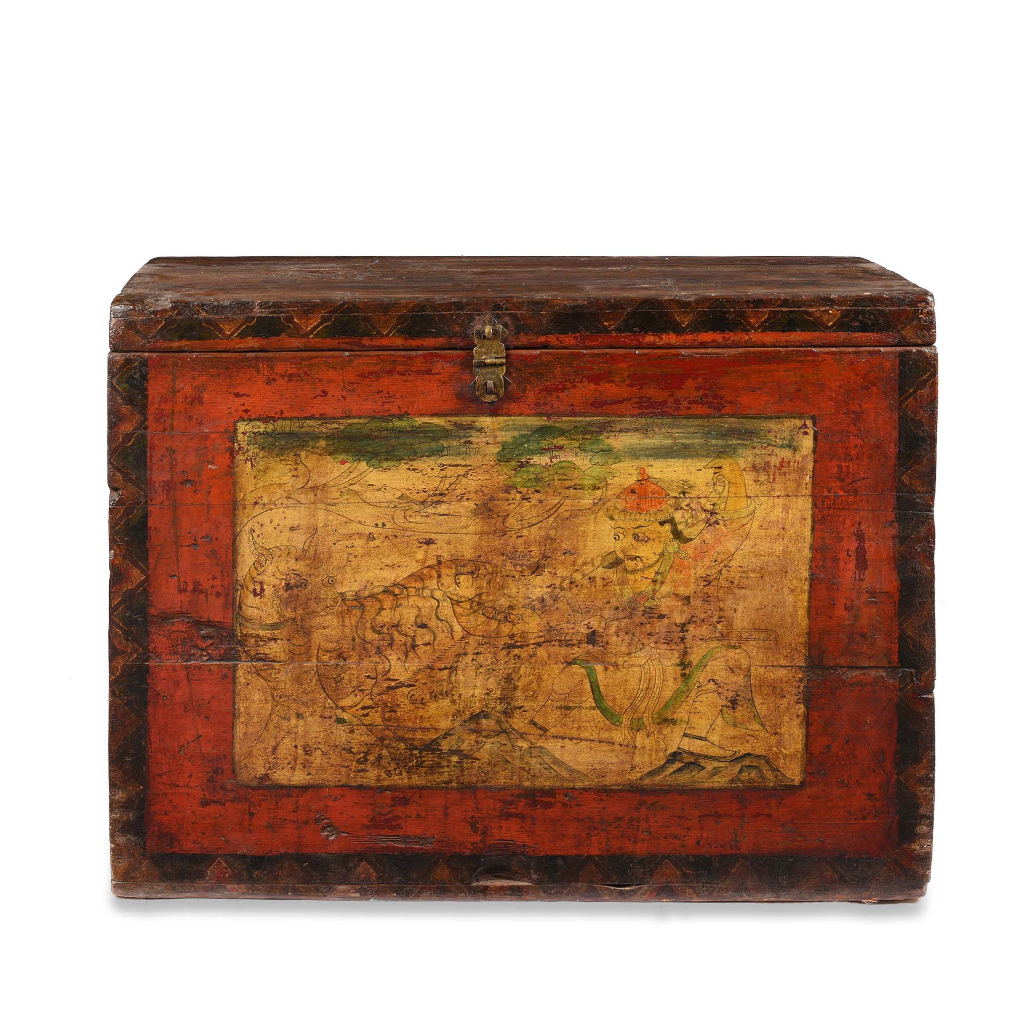 Painted Tibetan Chest - Late 19thC