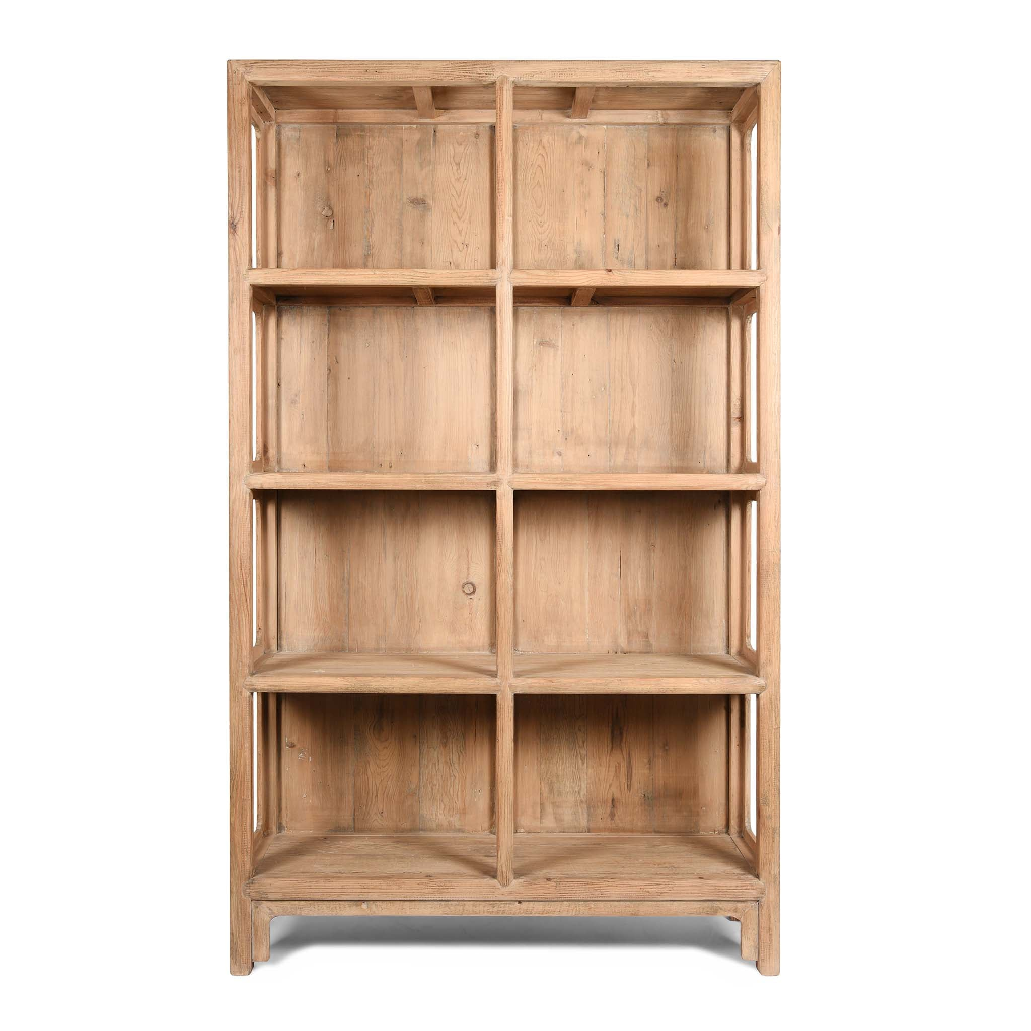 Bookshelf Made From Reclaimed Elm