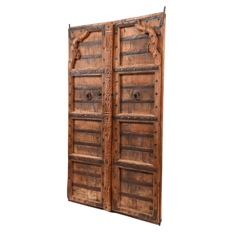 Carved Roheda Doors From Bikaner - 19thC