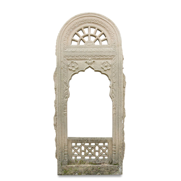 Carved Stone Jali Window from Rajasthan - 19thC