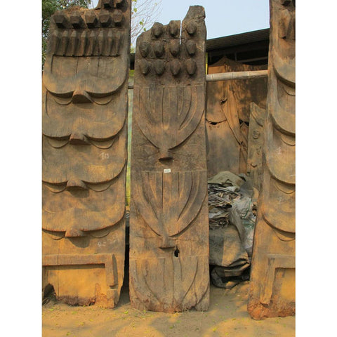 Carved Teak Tribal Panel from Nagaland - 19thC