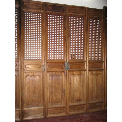 Elm Screen Panels (Set Of 4) - 19thC