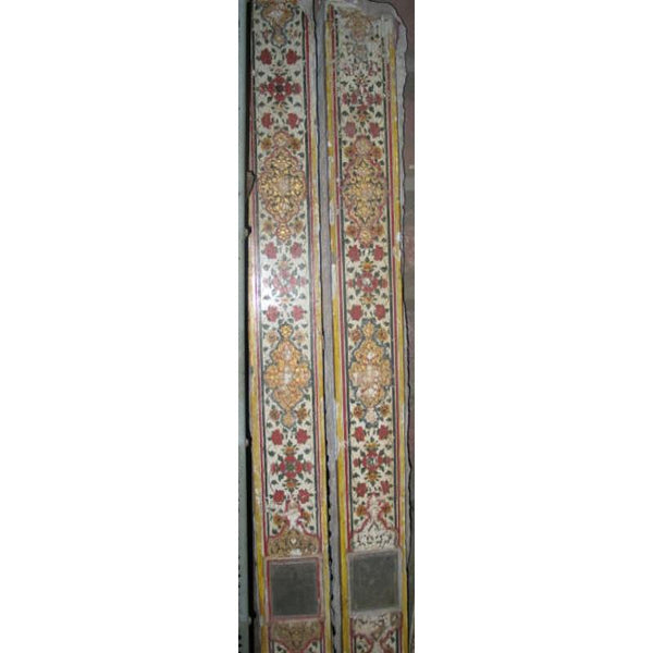 Gilded & Painted Stone & Plaster Door Panel - Early 19thC
