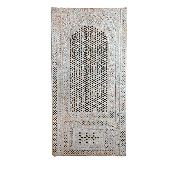 Indian Stone Jali Panel From Jodhpur - 19thC
