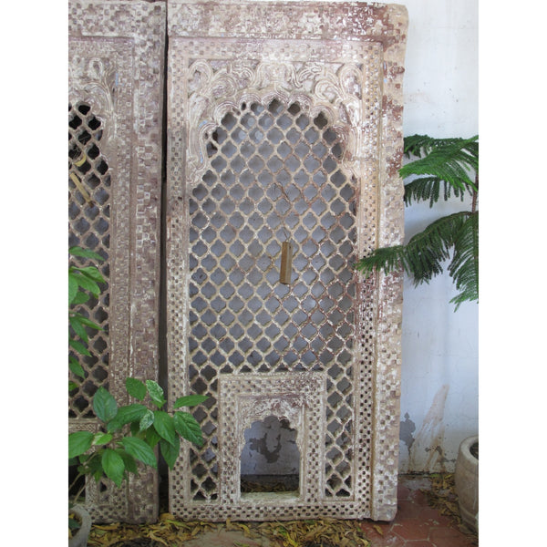 Indian Stone Jali Window From Jaisalmer - 18thC