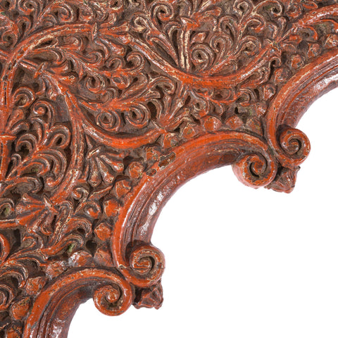 Old Carved Teakwood Double Arch from Maharashtra - 19thC