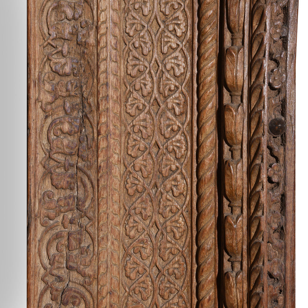 Old Indian Carved Doorway from Rajasthan - 18thC