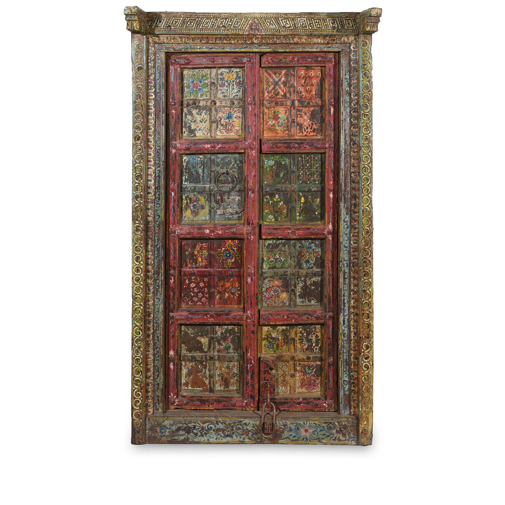 Old Indian Door With Later Painting - 19thC