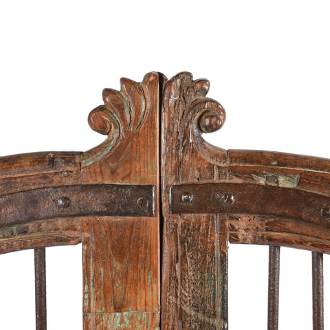 Teak Dog Gates From Gujarat - 19thC