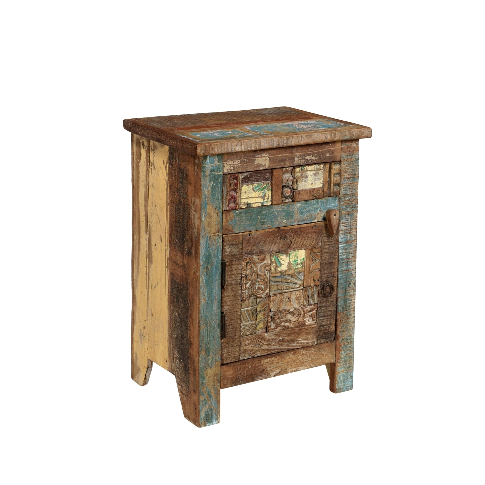 Bedside Cabinet Made From Reclaimed Teak | Indigo Oriental Antiques