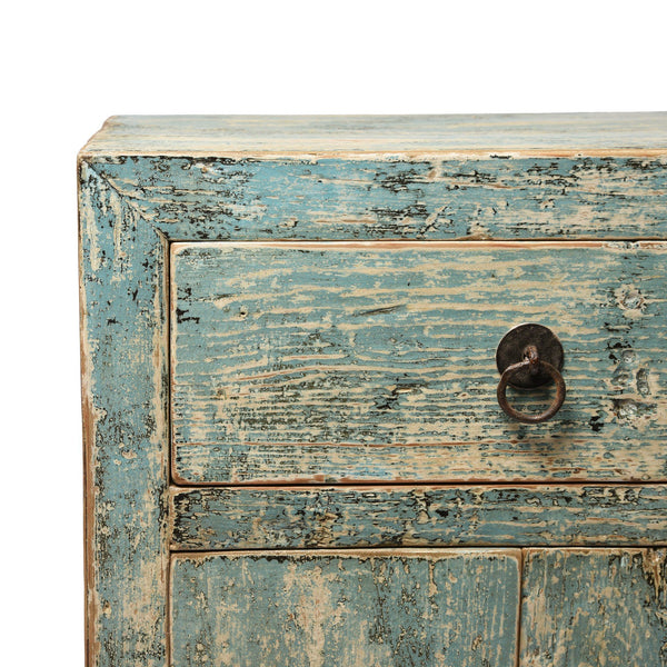 Blue Painted Bedside Cabinet With Drawer