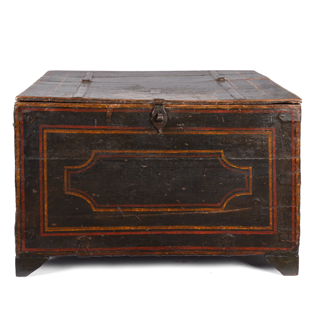 Antique Painted Indian Chest from Bikaner - 19thC