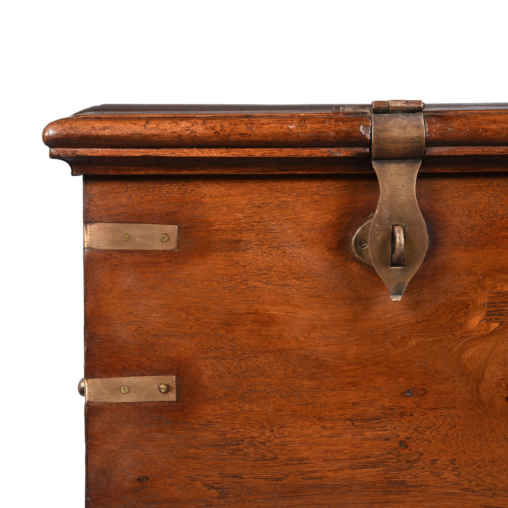 Brass Bound Teak Military Chest - 19thC - From Gujerat