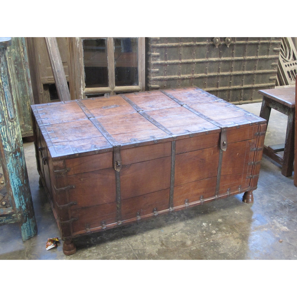 Iron Bound Teak Chest - 19thC