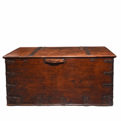 Iron Bound Teak Chest from Saurashtra - 19thC
