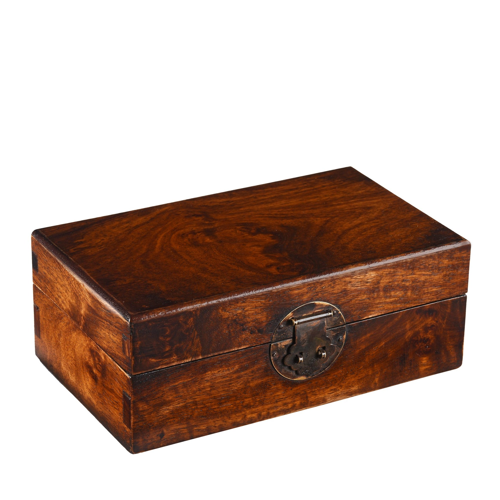 A beautifully made from Burr Rosewood - Keepsake box. This is a highly prized timber. Perfect for Jewellery | Indigo Antiques