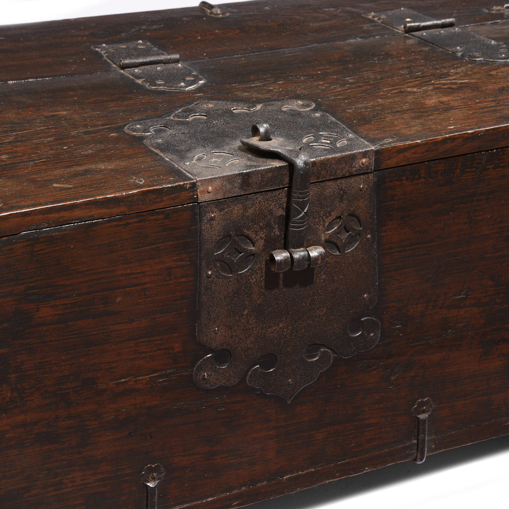 Korean Coin Chest With Iron Mounts - 18thC