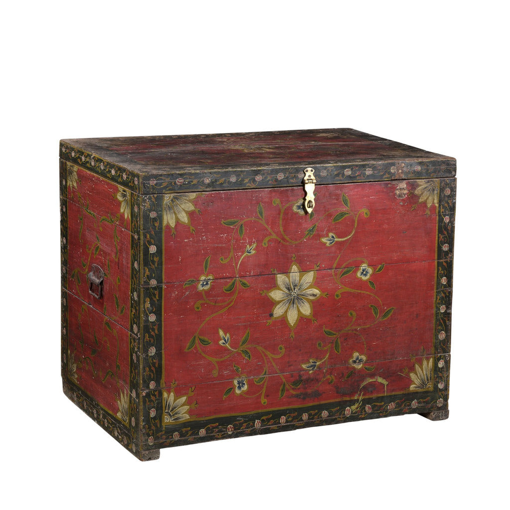 Painted Chest From Rajasthan - 19thC