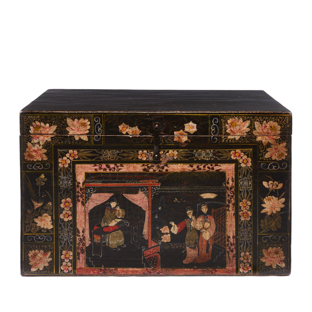 Painted Opera Chest From Shanxi - 19thC