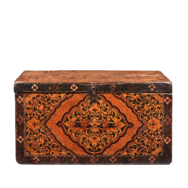 Painted Tibetan 'Floral' Storage Chest - 18thC