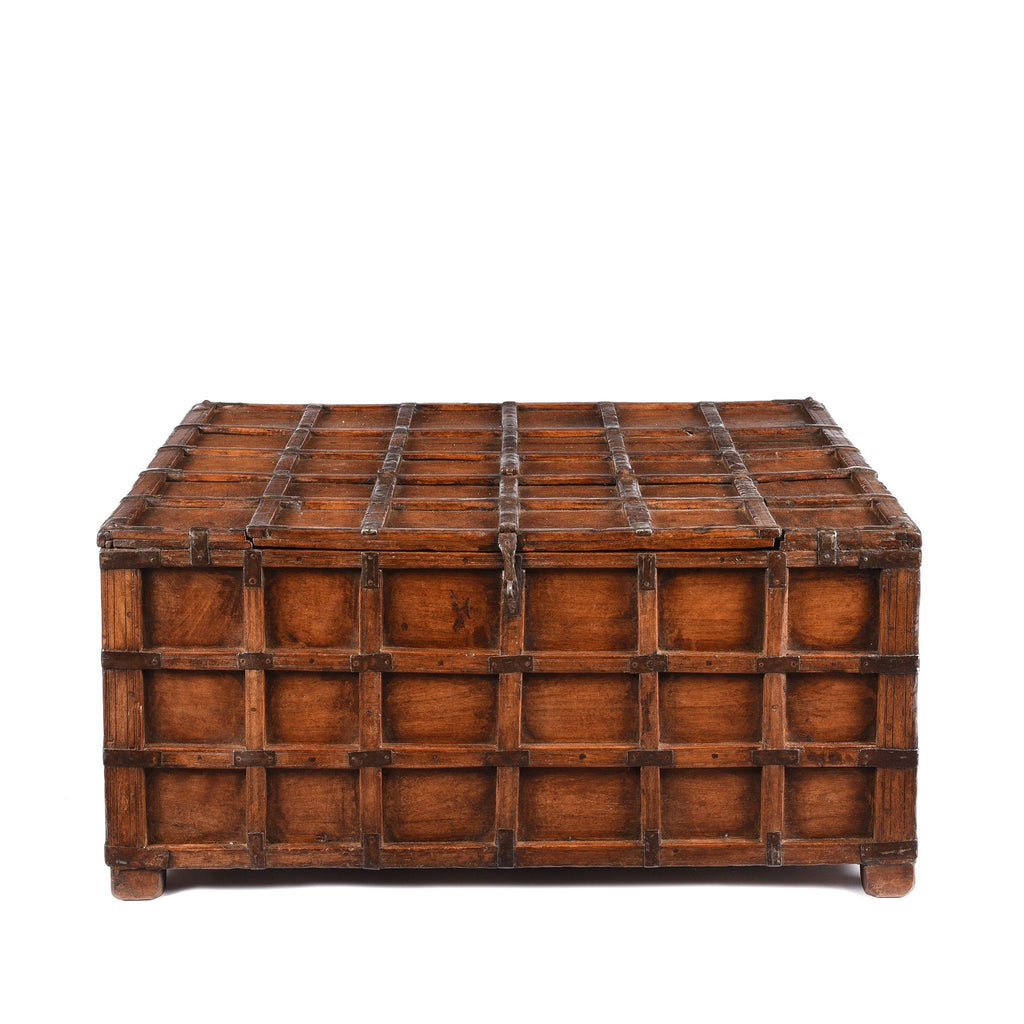 Teak Stick Box Coffee Table From Rajasthan - 19thC