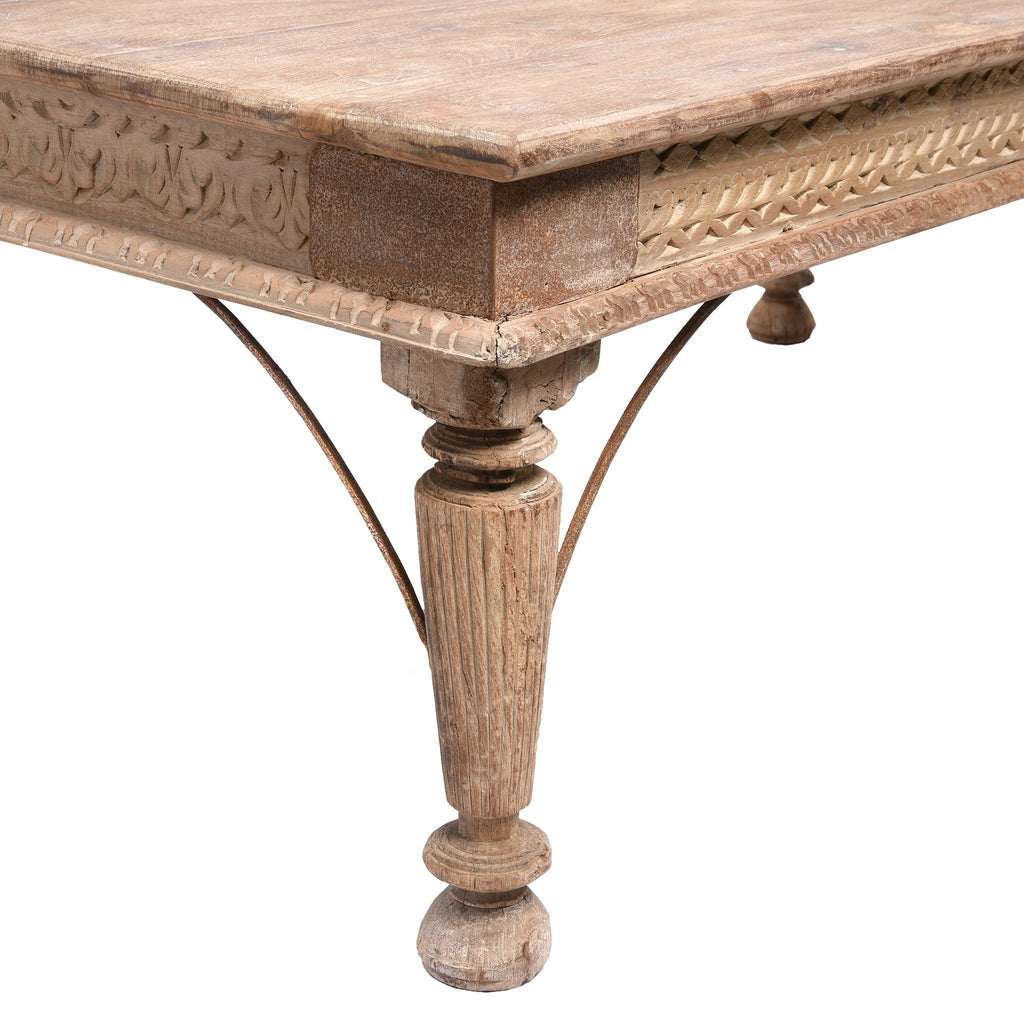 Indian Takhat Coffee Table Made From Reclaimed Teak
