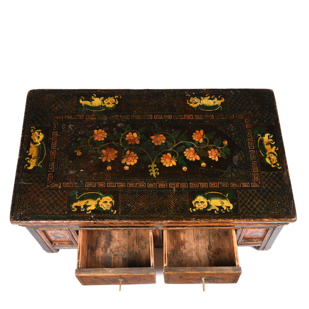 Painted Mongolian Prayer Table - 19thC