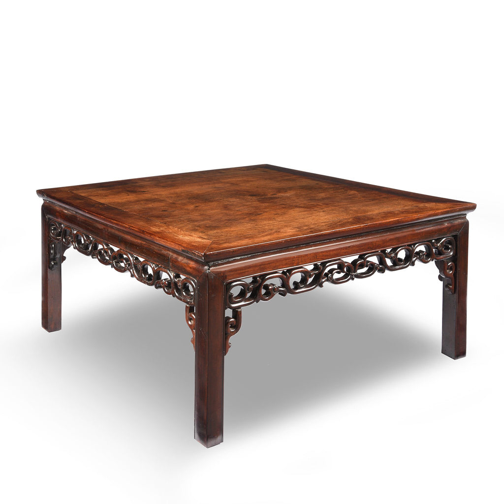 Square Chinese Rosewood Opium Table - 19thC