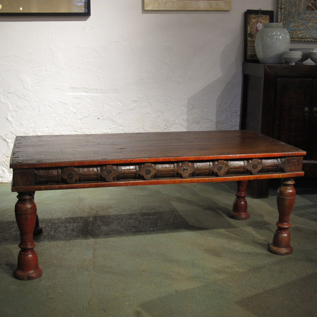 Teak Table From Rajasthan - Perfect As A Coffee Table