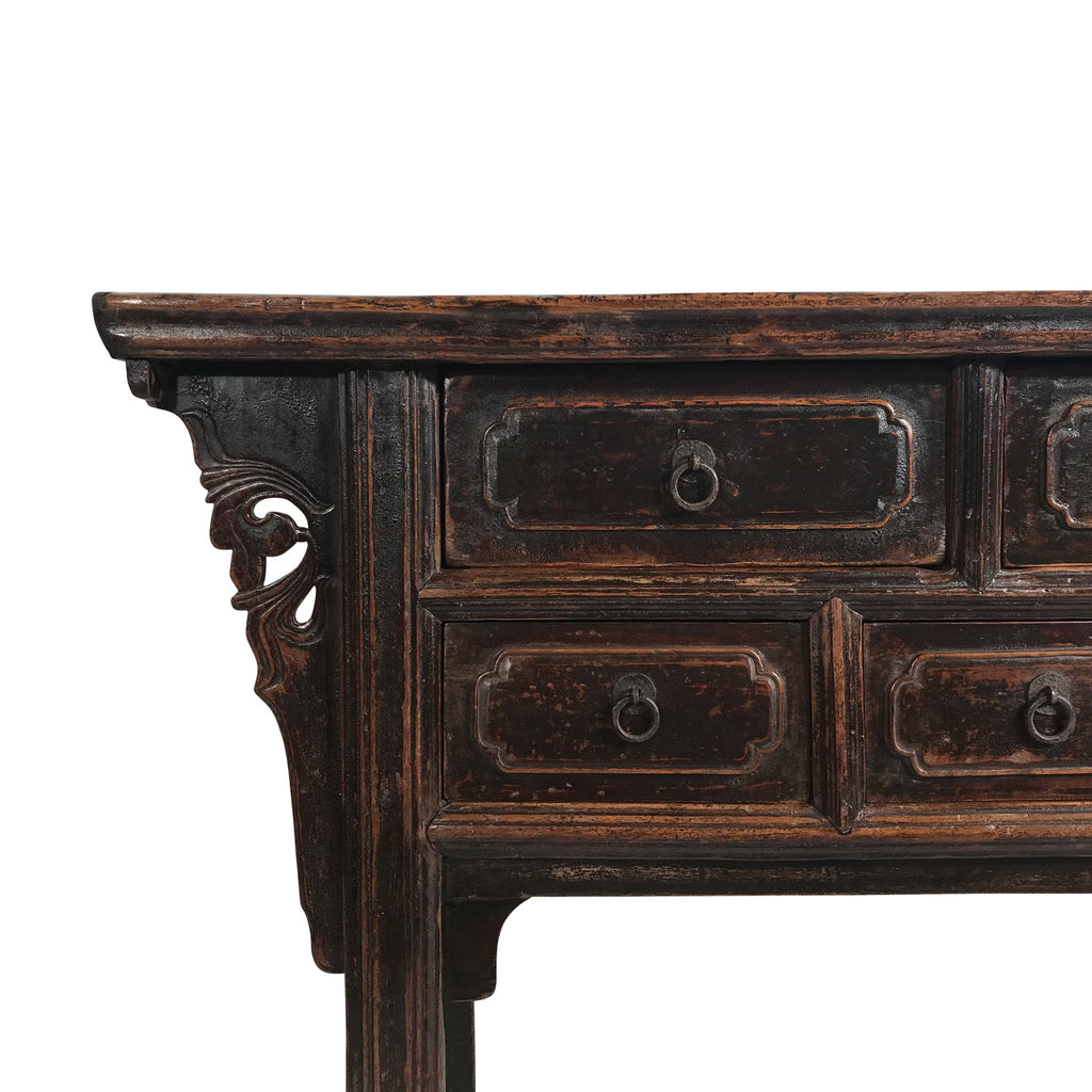 7 Drawer Console Table From Shanxi - 19thC